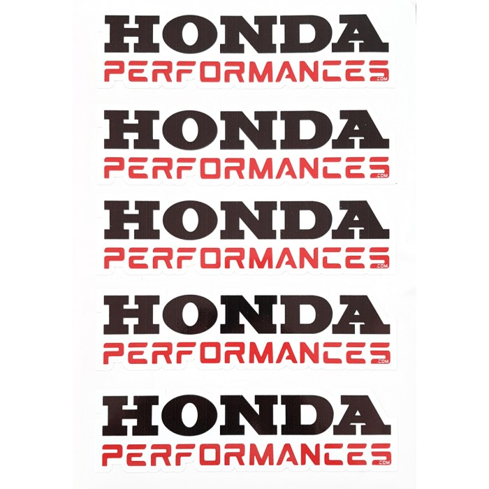 Stickers Honda Performances - 5 Autocollants