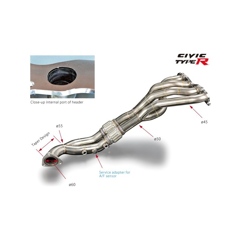 Toda Racing Exhaust Manifold Header - Civic Type R FN2