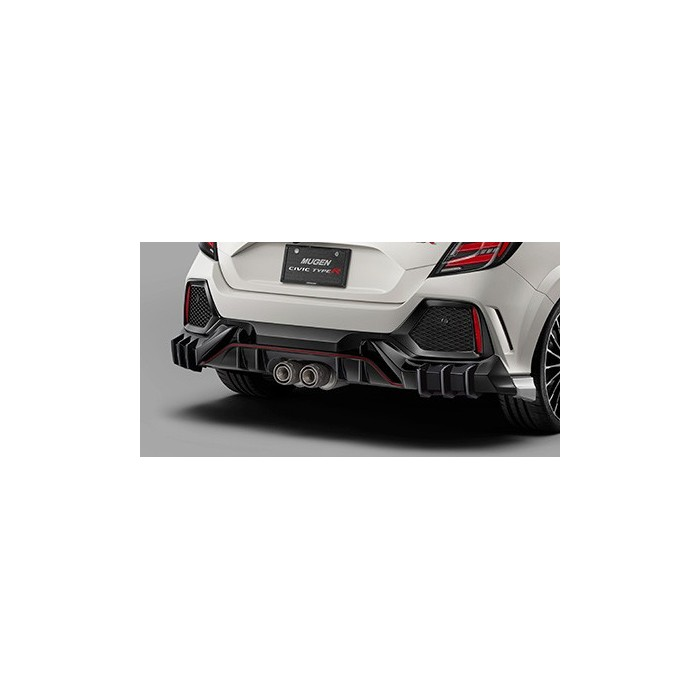 MUGEN Rear Diffuser Honda Civic Type R FK8 Unpainted