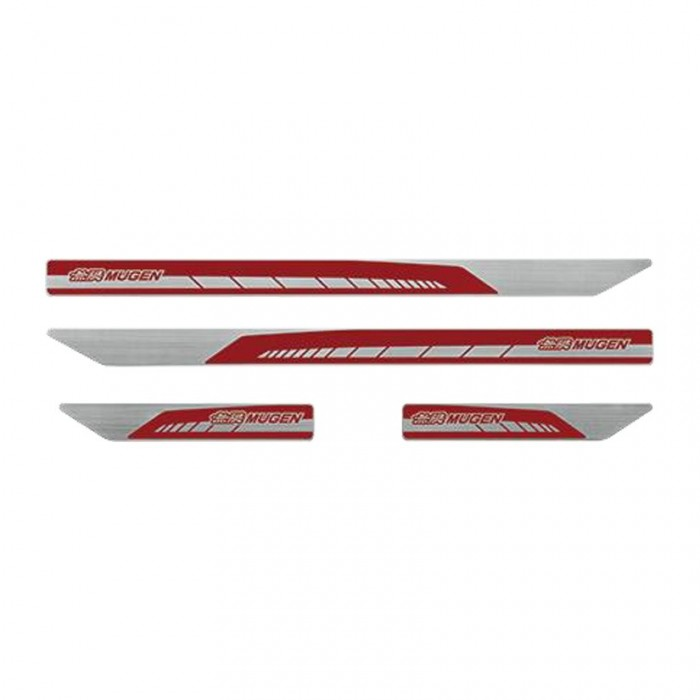MUGEN Door Sill Trim Scuff Plate Set Honda Civic Type R FK8 17+ Red