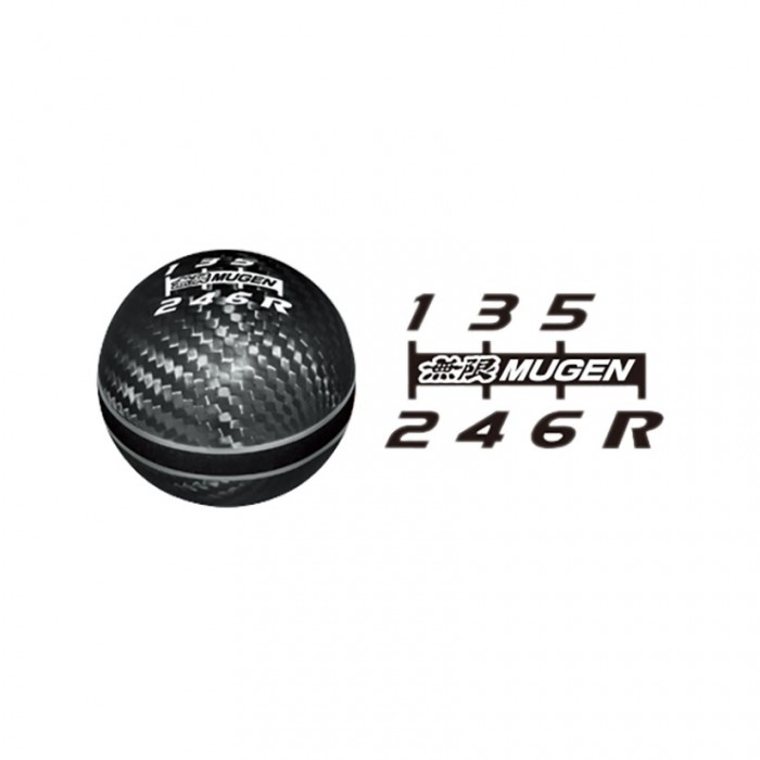MUGEN Carbon Gear Shift Knob Black