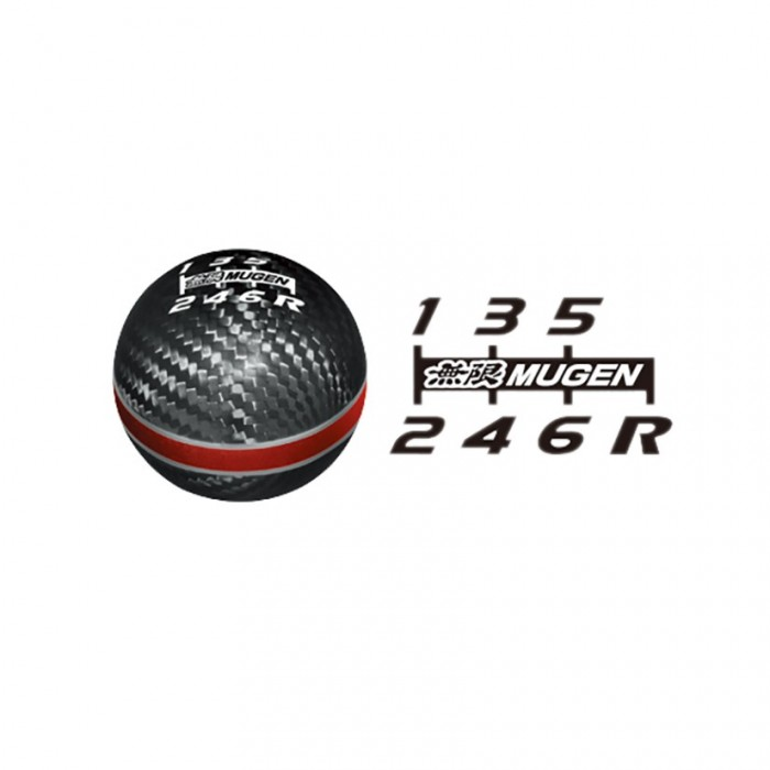 MUGEN Carbon Gear Shift Knob Red