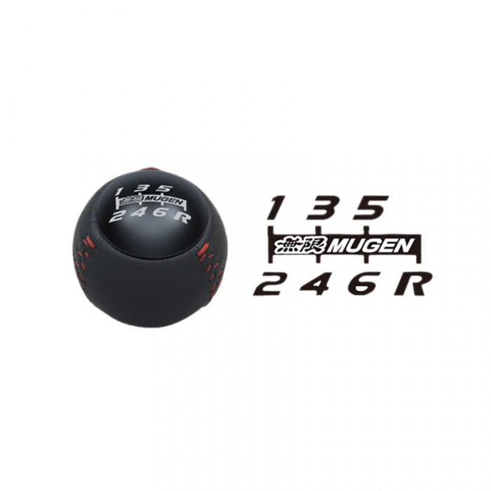 MUGEN Leather Gear Shift Knob Black