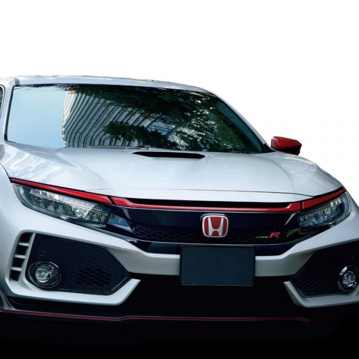 Genuine Honda JDM Red Front Grill Garnish Civic Type R FK8 17+
