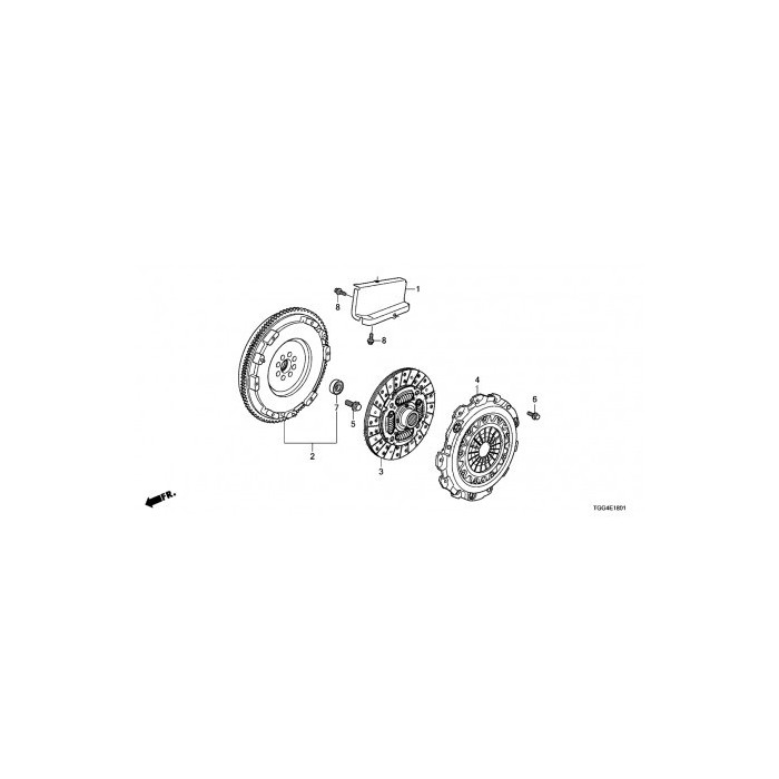 Genuine Honda Flywheel Civic Type R FK8 17+ K20C