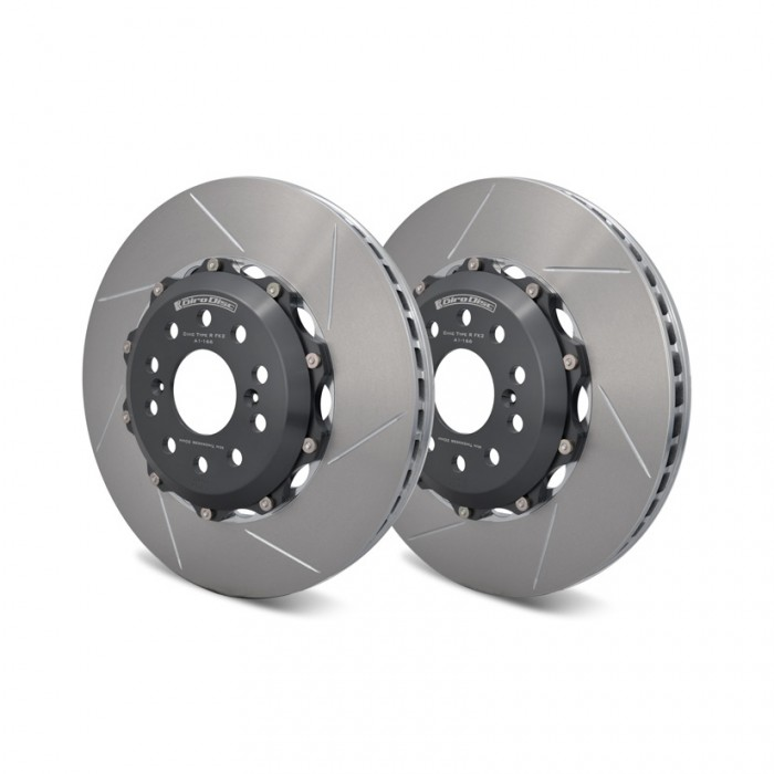 GiroDisc Slotted 2-Piece Front Brake Discs 350x32mm - Civic Type R FK8 / FK2