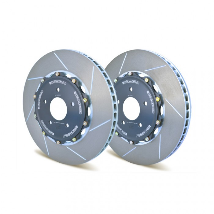 GiroDisc Slotted 2-Piece Rear Brake Discs - Civic Type R FK8 / FK2