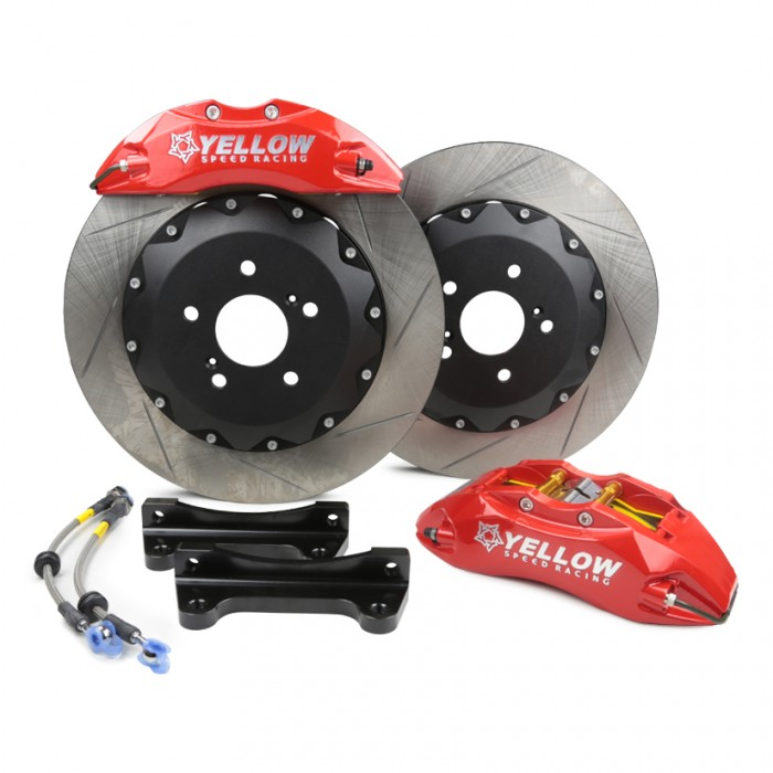 Yellow Speed Racing Front Big Brakes Kit - 8-Pot Slotted Discs 380mm - Civic Type R FK8 / FK2