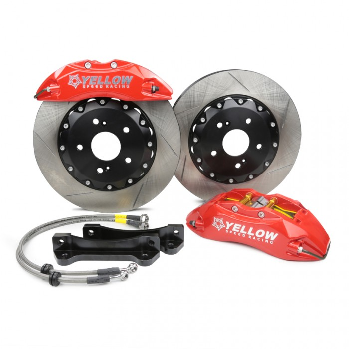 Yellow Speed Racing Front Big Brakes Kit 6-Pot Slotted Discs 330mm - Civic Type R FN2