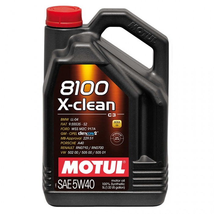 MOTUL 8100 X-clean 5w40 Synthetic Engine Oil