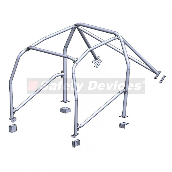 SAFETY DEVICES 6-Point Bolt-In Roll Cage - Civic Type R EP3