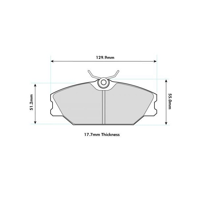 PBS Prorace Front Brake Pads - Renault Clio 2 RS 172/182
