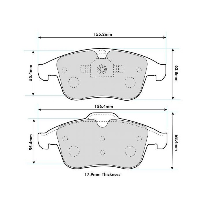 PBS Prorace Front Brake Pads - Renault Clio 4 RS 1.6T