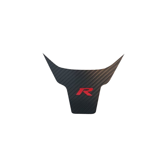 """Steering Wheel Overlay Black Carbon """"R"""" Red - Civic Type R FK8 & Civic 1.5T 2016+"""