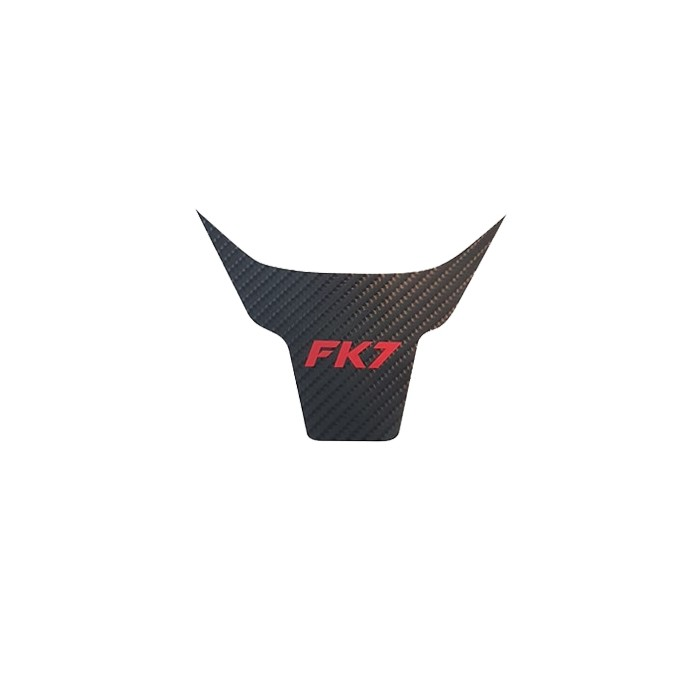 "Steering Wheel Overlay Black Carbon ""FK7"" Logo - Civic 1.5T 2016+"
