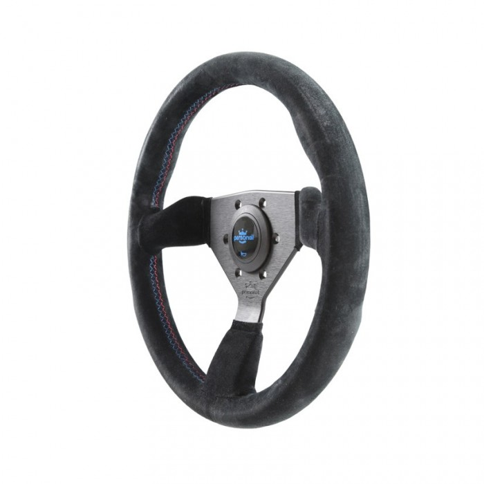 Personal Grinta Bmw Tricolore Suede-Leather Steering Wheel - 330mm