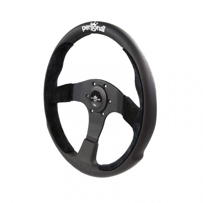 Personal Pole Position Suede Leather Steering Wheel - 350mm