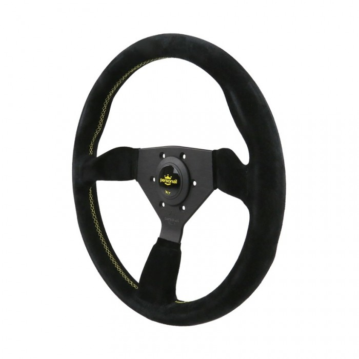 Personal Grinta Suede Leather Steering Wheel - 350mm
