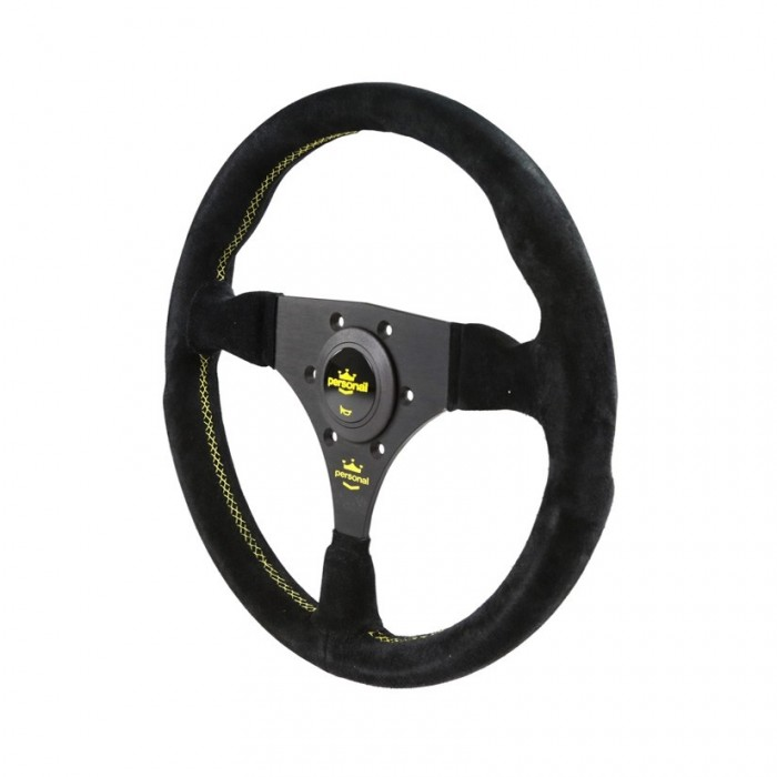 Volant PERSONAL Fitti Racing Suede Cuir - 320mm