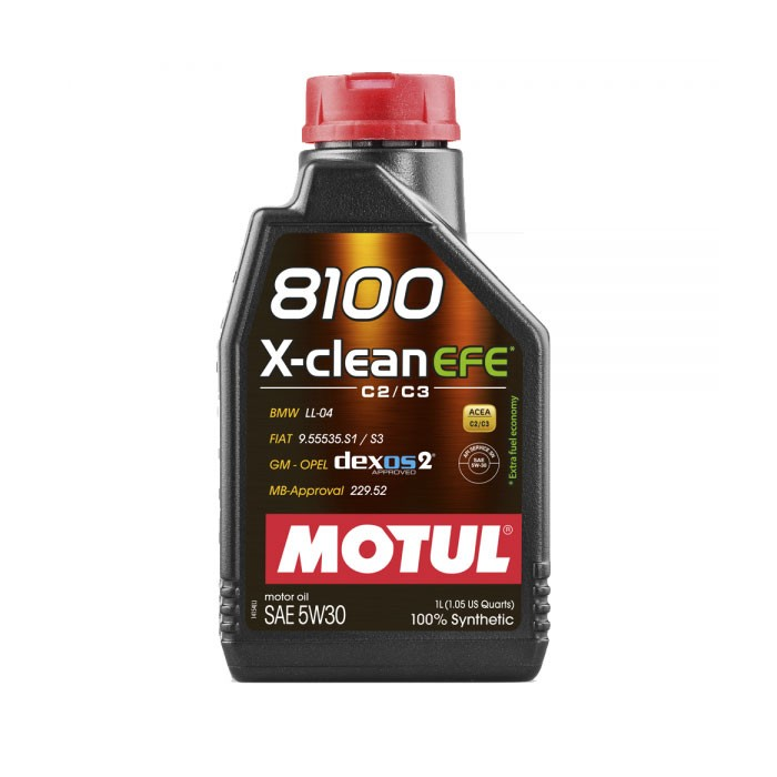 MOTUL 8100 X-clean EFE 5w30 Synthetic Engine Oil 1L (Honda Recommended)
